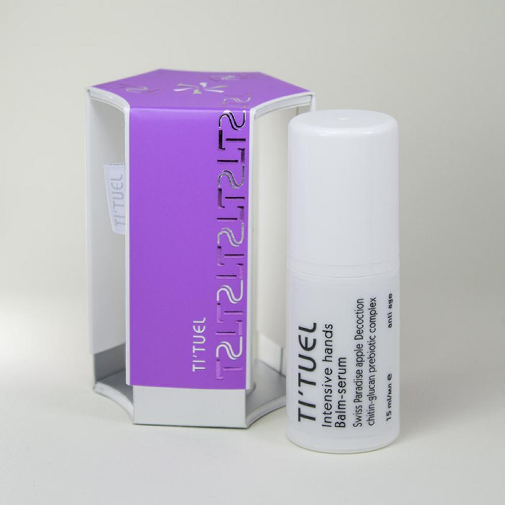 Интенсивный бальзам-сыворотка для рук TI'TUEL на основе декокта швейцарского яблока и пребиотического комплекса хитин-бета-глюкан