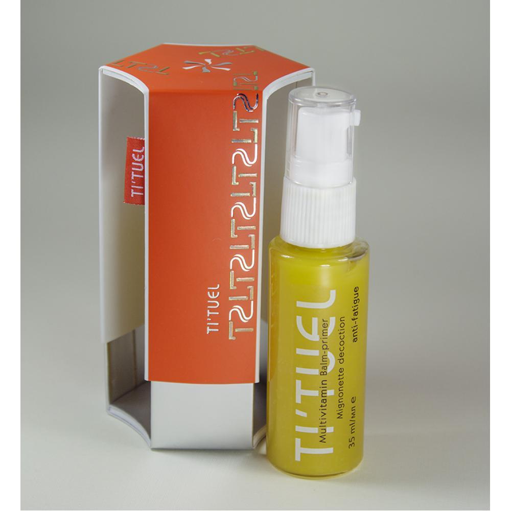 Мультивитаминный бальзам-праймер для кожи лица TI'TUEL на основе декокта резеды, комплекса натуральных масел, растительных экстрактов