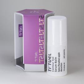 Бальзам-сыворотка для контура глаз TI'TUEL на основе декокта швейцарского яблока и пребиотического комплекса хитин-бета-глюкан