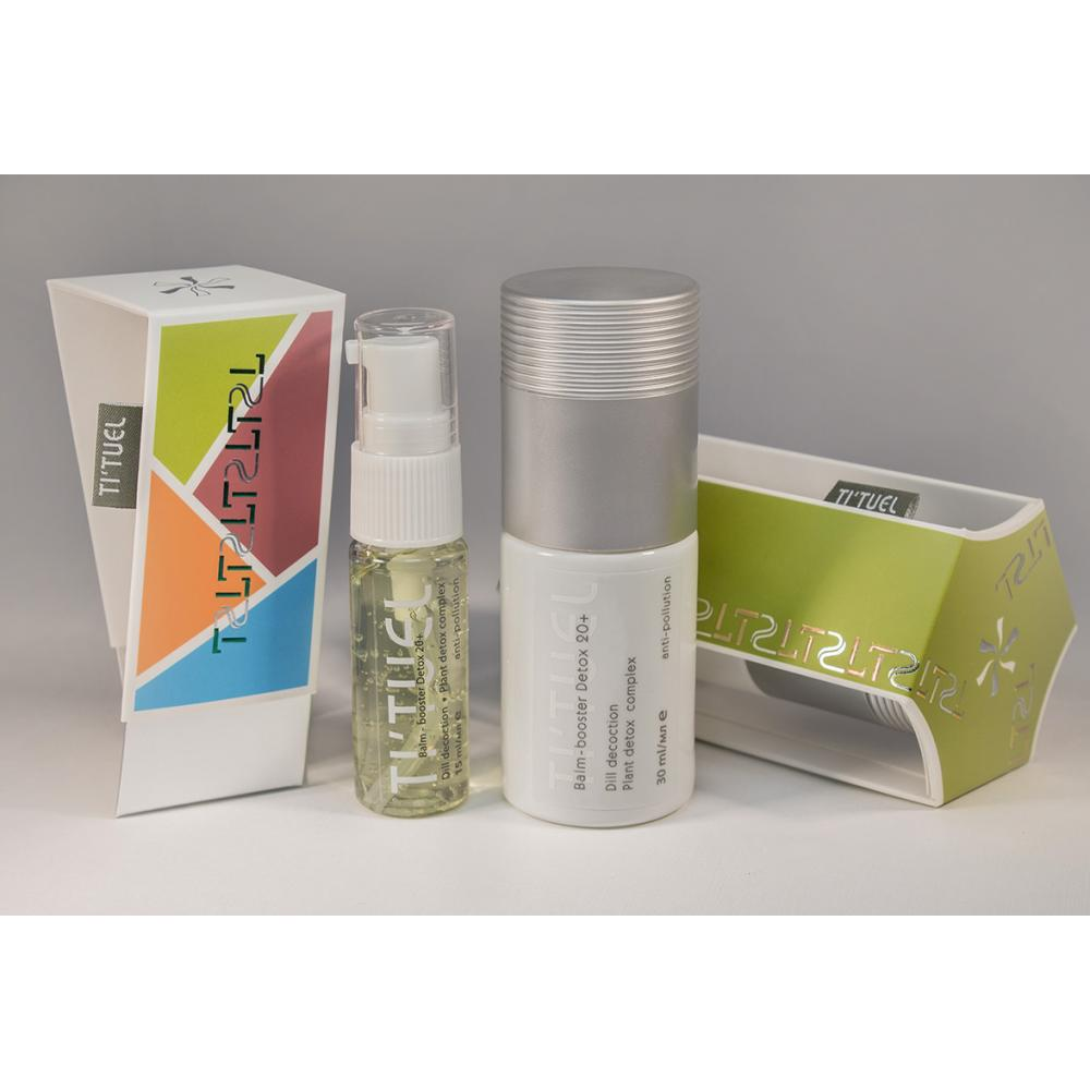 Бальзам бустер для кожи лица TI'TUEL Детокс 20+ на основе декокта укропа и растительного детокс-комплекса