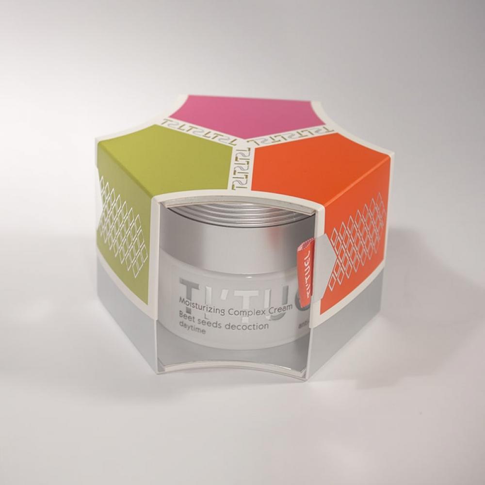 Дневной крем для кожи лица TI'TUEL Комплексное увлажнение на основе декокта семян свеклы и комплекса Aqua Shuttle